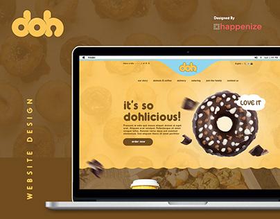 Doh - Dohnuts Website Design