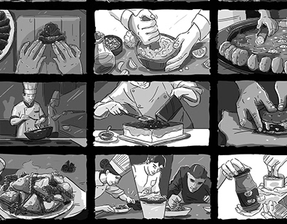 Food Ad Storyboard