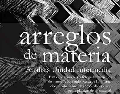 (2015-1) Exposición Arreglos de Materia