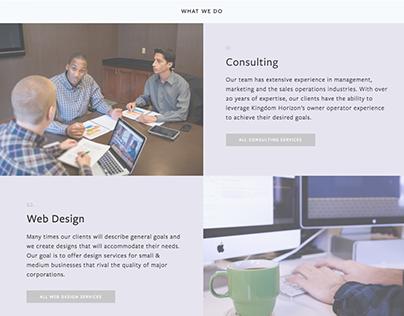 Kingdom Horizon Website Design