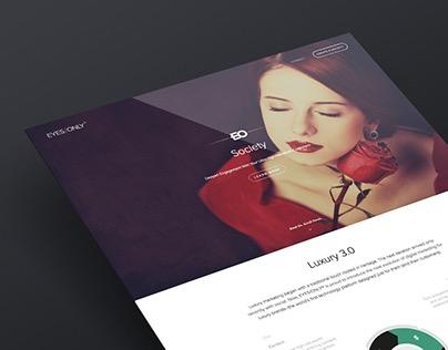 Microsite(s) - EYES/ONLY (Marketing/Luxury)
