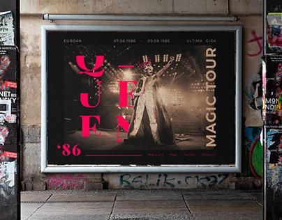 Queen Magic Tour 1986 - Tipografía 2 UADE