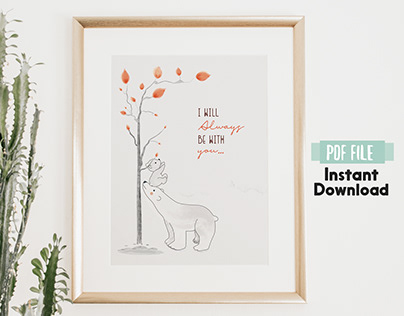 Illustration Wall Art 2020 - Mama Bear Poster