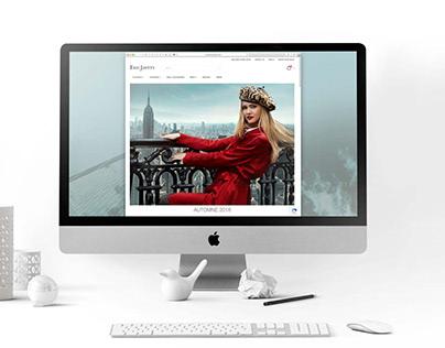 Web design: EricJavits New York, Fall /Winter 2018