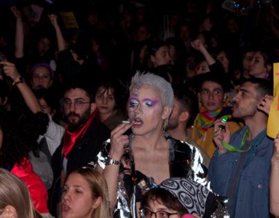 8 March Feminist Night March in Istanbul/Turkey