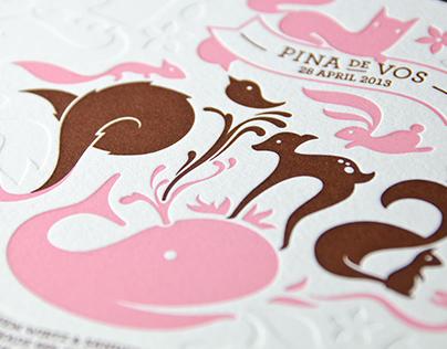 Pina — Letterpress Card