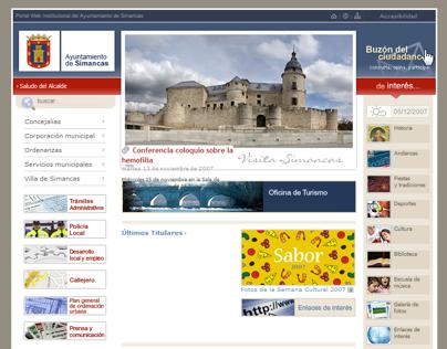 Web Ayuntamiento de Simancas