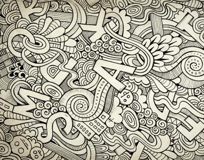 Hand drawn doodle letters on behance altavistaventures Images