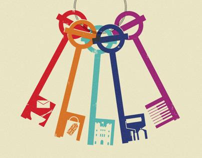 "London Transport Museum ""Secret London' poster design"