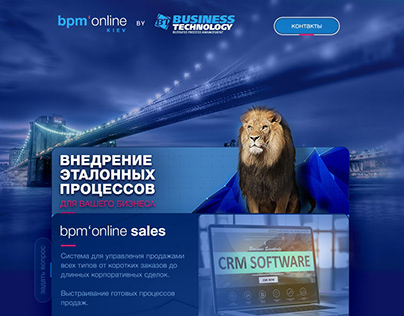 bpmonline landing page