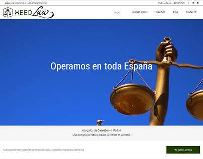Diseño y desarrollo de la web de Weedlaw