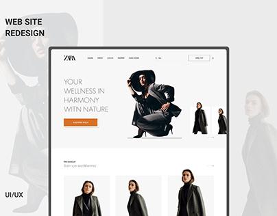 Zara Web Site Redesign