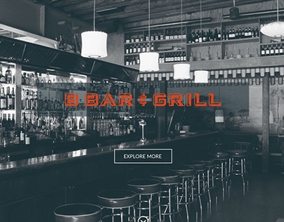 BBar and Grill - Landing Page Design