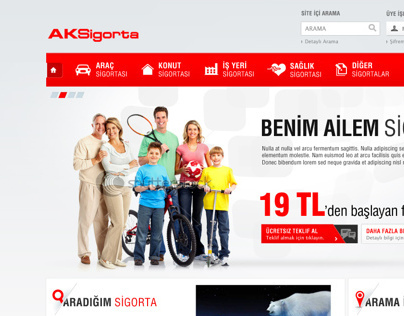 Aksigorta Insurance Web & Customer Site Project