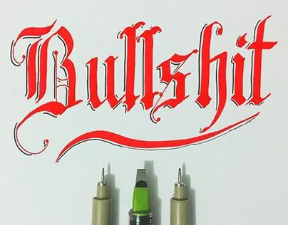 Brushpen & Flat Pen Lettering Set 4