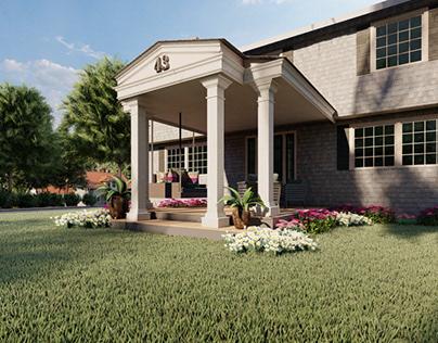 COLONIAL HOUSE PORCH, USA