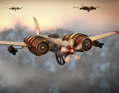 Steampunk Plane called 'Ida'