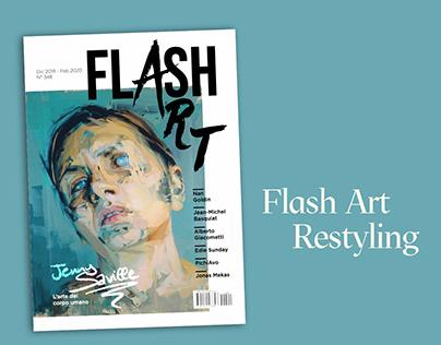 "Magazine design - Restyling of ""Flash Art - Italia"""