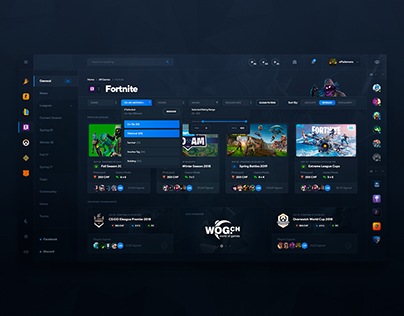 Dribbble Shots 2018-2019 (Gaming, esports, travel)