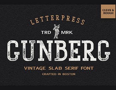 FREE | Gunberg Slab Serif