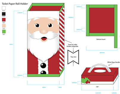 Holiday Bathroom Set (Santa Version)