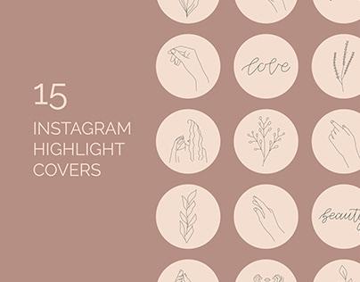 Line Art Instagram Highlight Covers