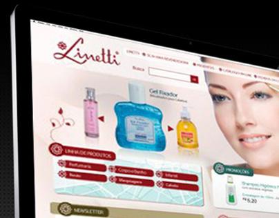 Webdesign do Site de Cosméticos Linetti