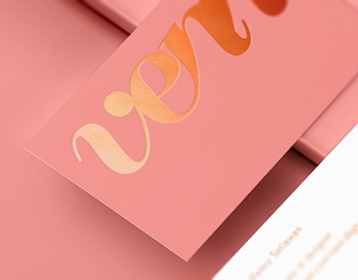 Debossed Business Card Mockup [ B ver. ]