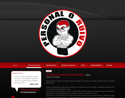 Design do Site do Personal O Ruivo
