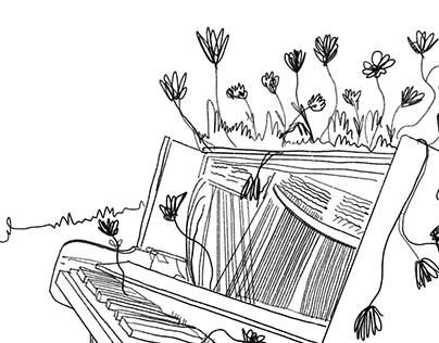 Illustration for Yerevan Magazine and Lovers' Park