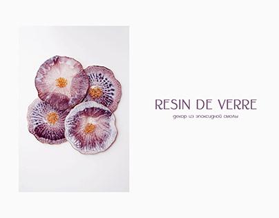 resin art decor brand logo.