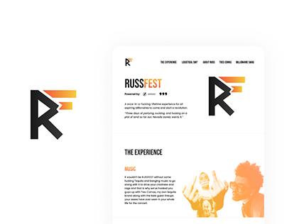 Russfest   Branding and Website UI/UX