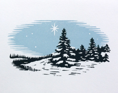 Illustration and Printing: Holiday Cards