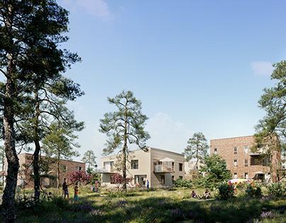 Residential project - Denmark - Horsens - 3D-Vizual