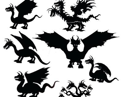 Silhueta Dragão