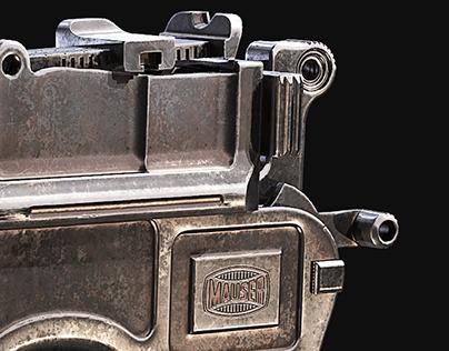 Mauser C96 Broomhandle Pistol