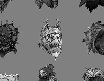 18 Dark Fantasy Heads