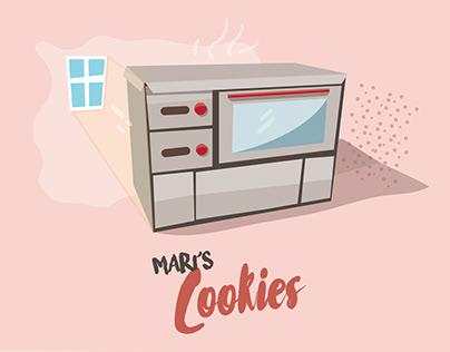 Mari's cookies package design