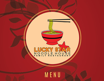 Menu Design & Layout LUCKY STAR Restaurant
