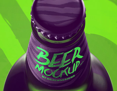 Beer Mockup With Free Sample