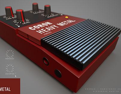 Old Heavy Metal Coron HM520 guitar effect ///