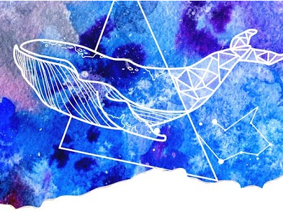 Template for blogger - watercolor and geometry.