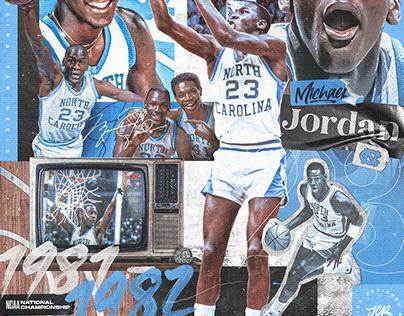 Michael Jordan - North Carolina Tar Heels artwork