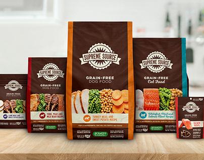 Supreme Source Grain-Free Pet Food Packaging