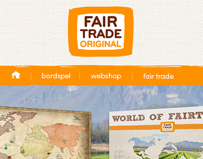 Fair Trade - School assignment(fictive website mockup)