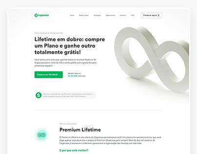 Landing Page - Organizze Lifetime Promo