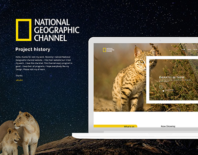 National Geographic Channel Landing Page