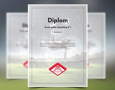 Diploma made for a football-club