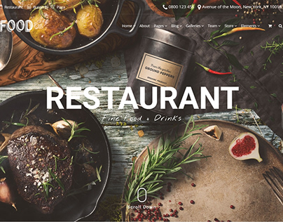 Restaurant Slider - Food WordPress Theme