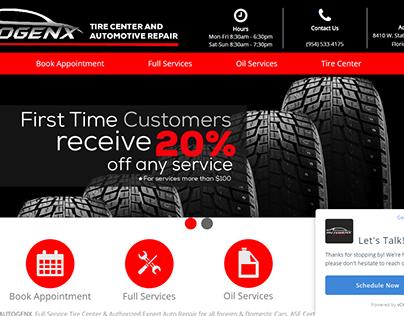 Sitio Web: Autogenx Tire Center